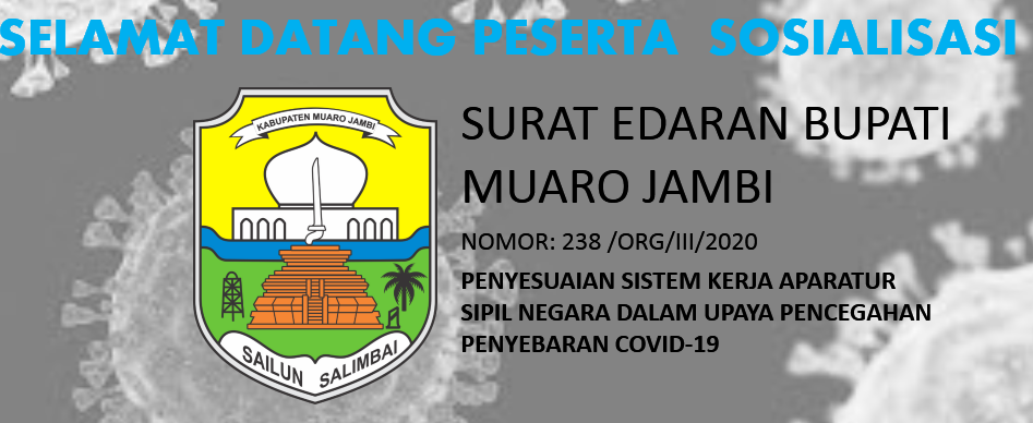 Sosialisasi Penyesuaian Sistem Kerja Terkait Wabah COVID-19 ASN Kabupaten Muaro Jambi