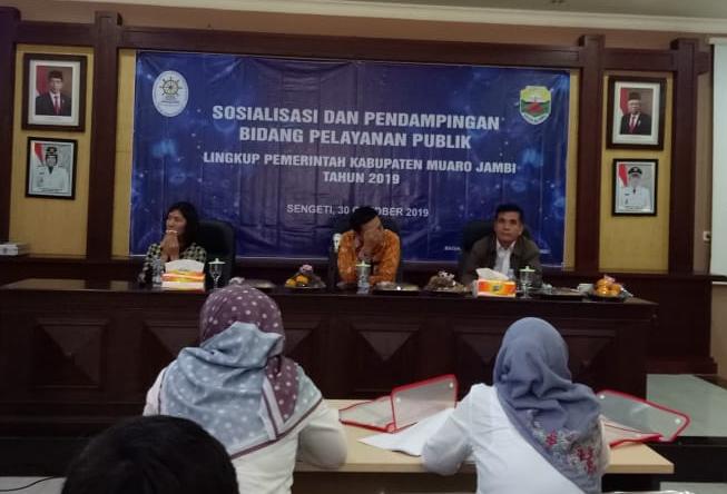 Sosialisasi dan Pendampingan Bidang Pelayanan Publik Lingkup Pemerintah Daerah Kabupaten Muaro Jambi
